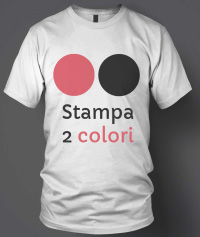 stampa serigrafia 2 colori su tessuto t-shirt
