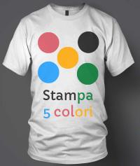 stampa serigrafia 5 colori su tessuto magliette