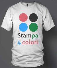 stampa serigrafia 4 colori su magliette