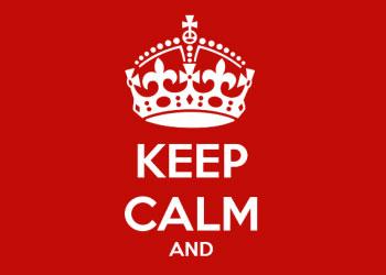 immagine scritta keep calm and