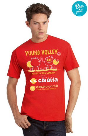 t-shirt personalizzate Young Volley on the Beach 2016