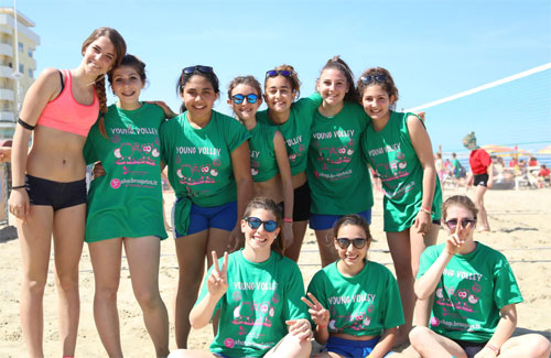 T shirt bambine Young Volley on the Beach 2015 Bellaria Igea Marina