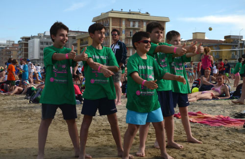 Maglietta bambini Young Volley on the Beach 2015 Bellaria Igea Marina