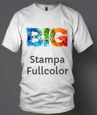 maglietta personalizzata con stampa digitale scritta