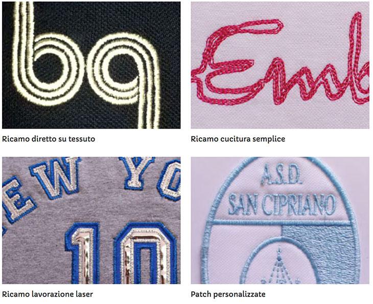 Magliette ricamate personalizzate Bros Print