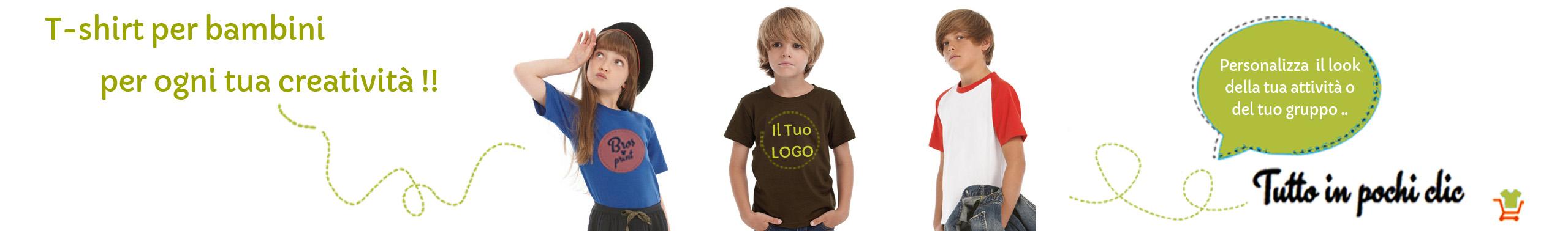 T-Shirt Magliette Personalizzate Bambini 1330bd034f73