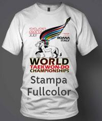 t-shirt personalizzata con logo evento stampa digitale
