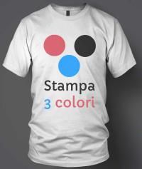 stampa serigrafia 3 colori su tessuto tshirt