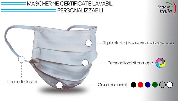 mascherine personalizzate lavabili certificate