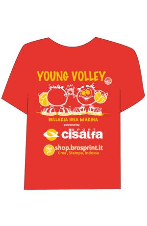 Young Volley 2016 maglietta stampa serigrafia 2 colori