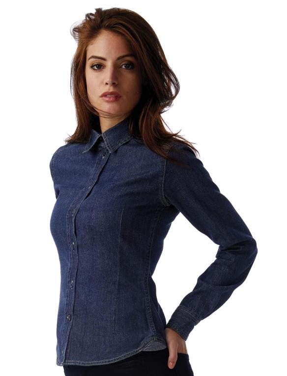 brand new 463e1 427ee Camicia Jeans Denim Donna e Ragazza da Personalizzare Online