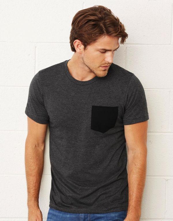 new product cc254 e0cfc T shirt Con Taschino Uomo da Personalizzare Online Bella+Canvas